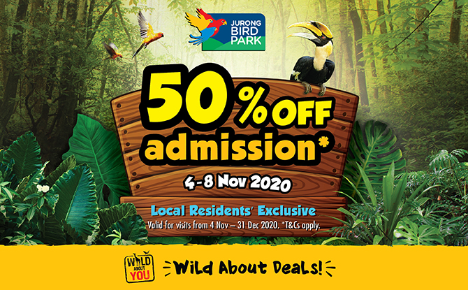 Jurong Bird Park: 50% Off Admission Tickets