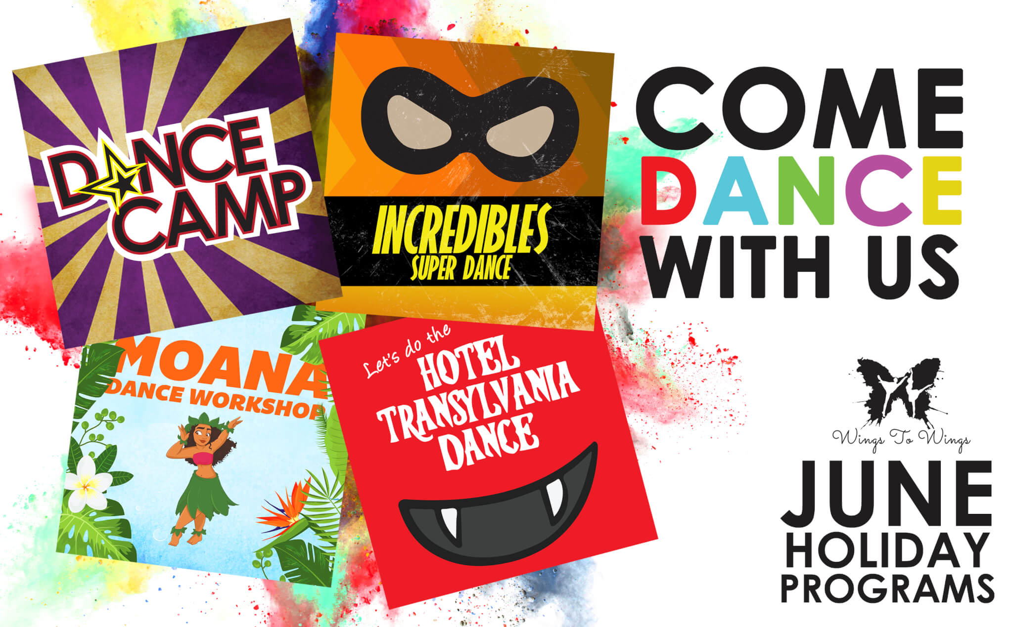Wings to Wings June Holidays 2018 Dance Camps and Workshops