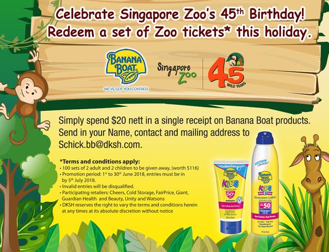 Banana Boat Zoo Promotion