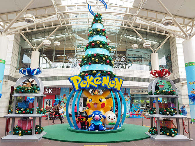 Pikachu Christmas Ornament.Amk Hub Jurong Point And Thomson Plaza Are Having A Pokemon