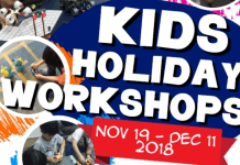 Kaesac December Holiday Workshops 2018