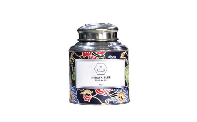 Ette Tea Company No. 803 Kebaya Blue $26, from ettetea.com