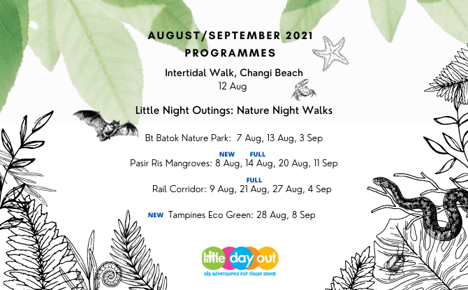 Little Day Out Programmes in August & September 2021