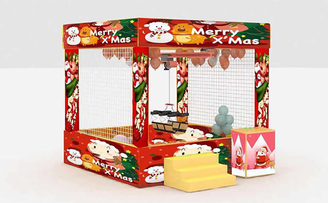 Catch Great Prizes At The Human Claw Machine - Aperia Mall Christmas Village 2019