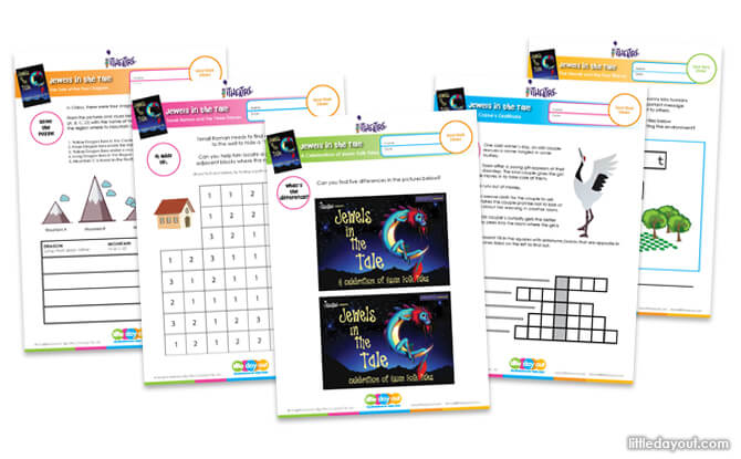 Jewels in the Tale Activity Sheets