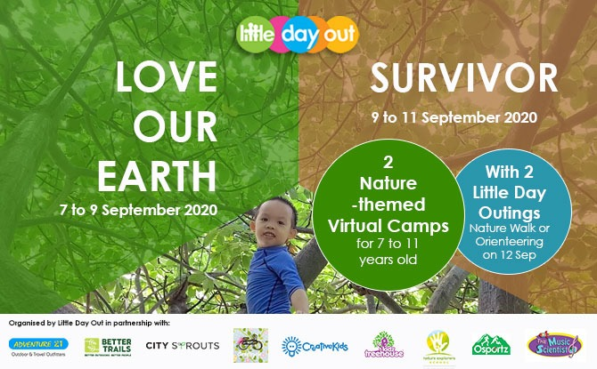 Super September Holiday Virtual Camps 2020: Love Our Earth & Survivor