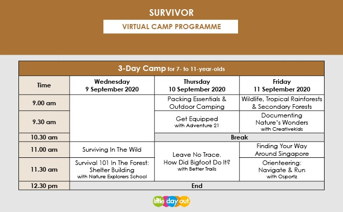 Super September Holiday Virtual Camps 2020: Survivor Programme