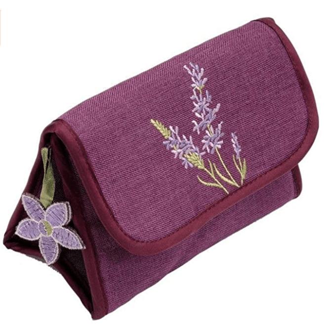 Lavender Design Cosmetic Bag