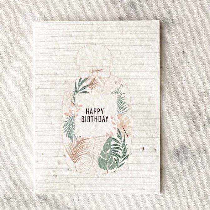 Left-Handesign plantable card