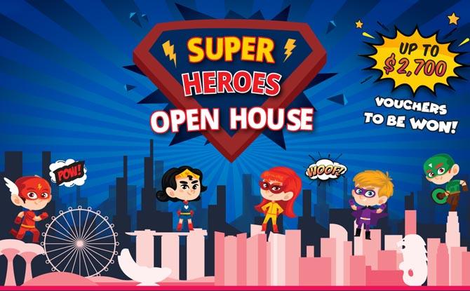Little Green House's Superheroes Open House