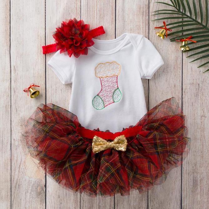 Little Kooma Baby Girl Christmas Outfit