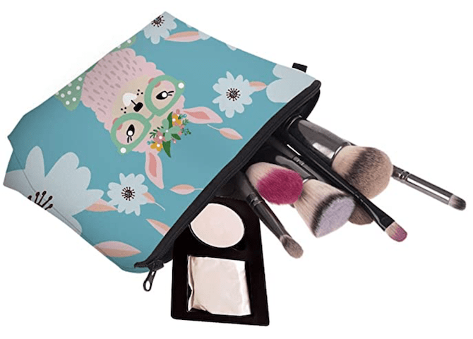 Llama Print Makeup Bag with Coin Pouch