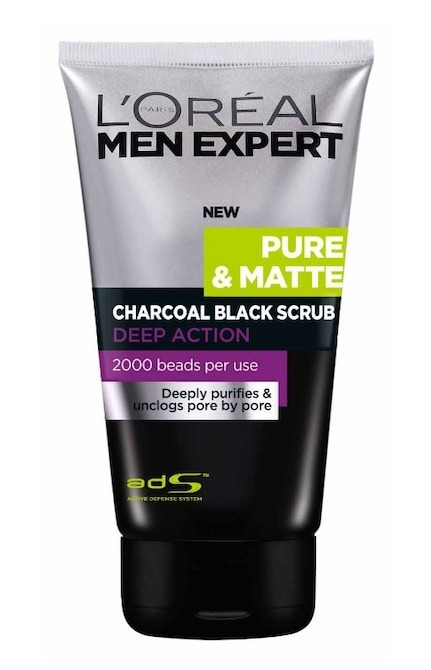 Loreal Paris Men Expert Pure Matte Charcoal Black Scrub