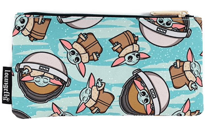 Loungefly Star Wars Baby Yoda Pattern Print Cosmetic Pouch
