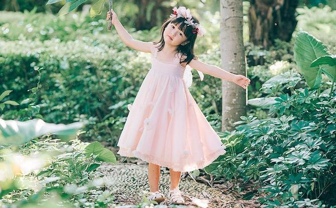 Pocketpig Diary Girls Fairy Dress with Butterfly Wings