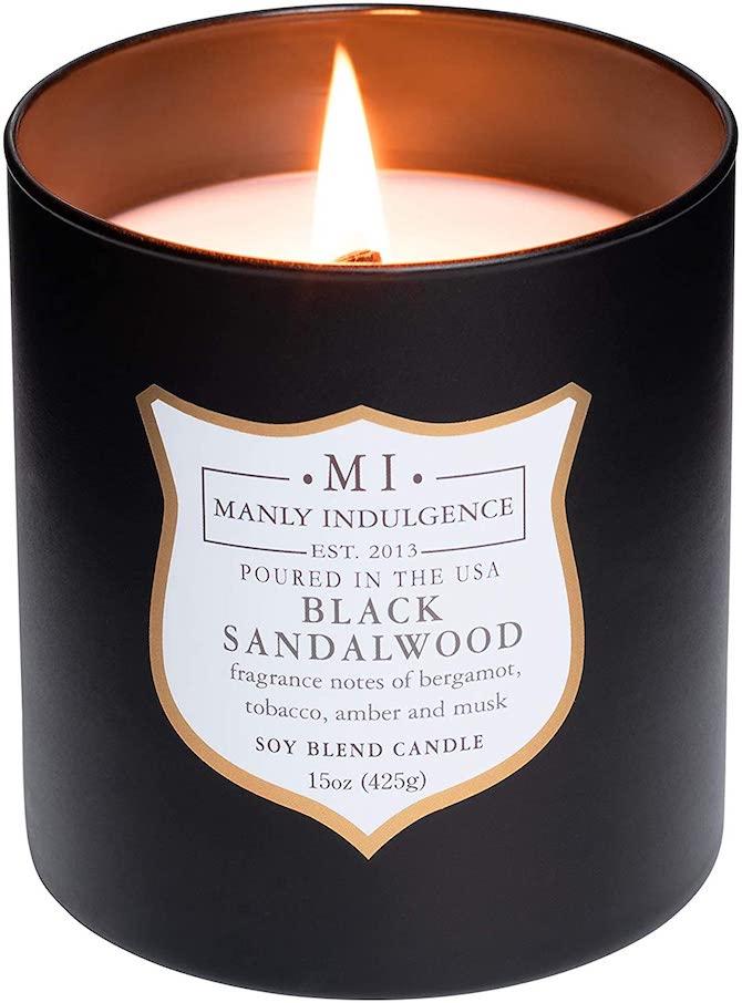Manly Indulgence Black Sandalwood Candle