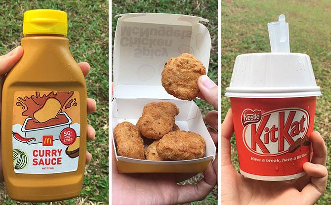 Taste Test: Return Of McDonald's Spicy Chicken McNuggets, Curry Sauce Bottle & Kit Kat McFlurry