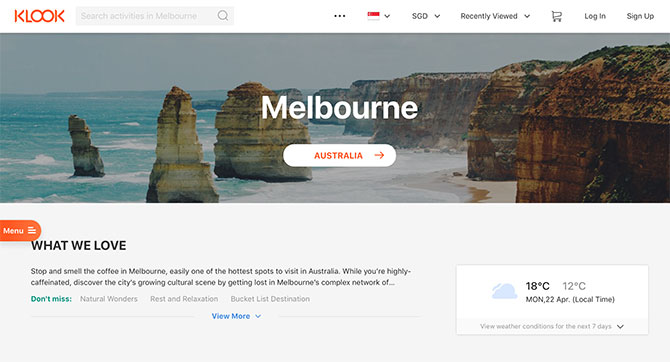 Klook - Melbourne travel tips