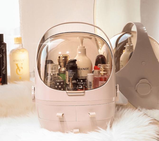 Minimalist Capsule Cosmetic Make Up Organizer