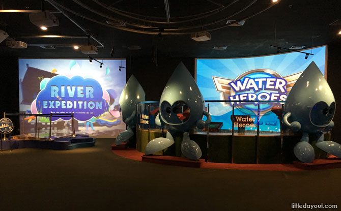 Interactive exhibits at NEWater Visitor Centre