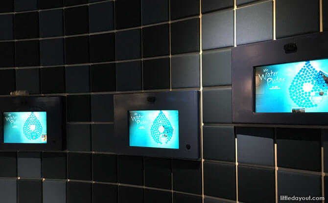 Pledge stations, NEWater Visitor Centre