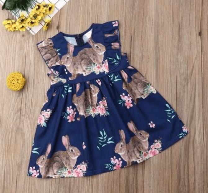 Girls Easter Bunny Tutu Skirt Dress
