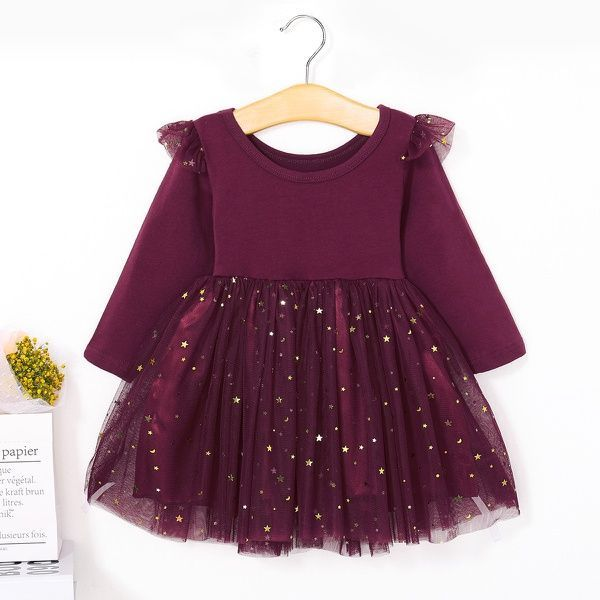 Patpat Star Appliqued Princess Dress