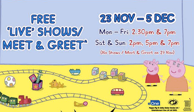 Peppa Pig – Peppa's Holiday Time at United Square and OneKM