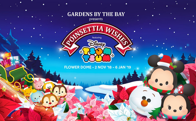 Poinsettia Wishes featuring Disney Tsum Tsum