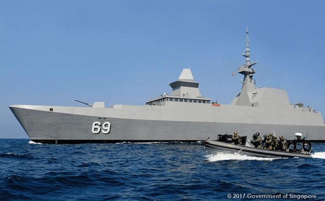 Singapore Navy frigate ship