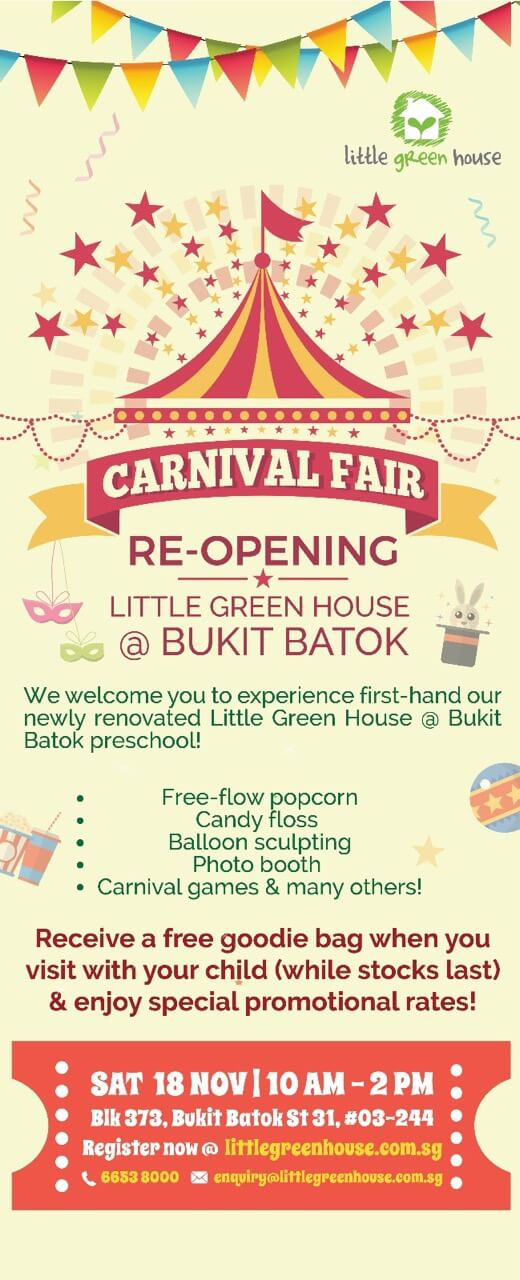 Little Green House Re-Opening Carnival @ Bukit Batok
