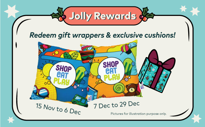 Sembawang Shopping Centre will also reward you for shopping during the year-end.
