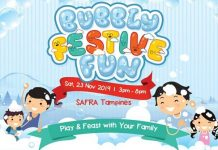 Bubbly Festive Fun at SAFRA Tampines