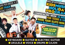 Believer Music School Holiday Program & 2-Day Music Adventure Camps 2018