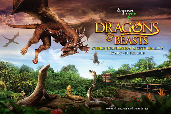 Dragons and Beasts - Singapore Zoo - Dragons And Beasts At Singapore Zoo During The Year-End School Holidays 2018