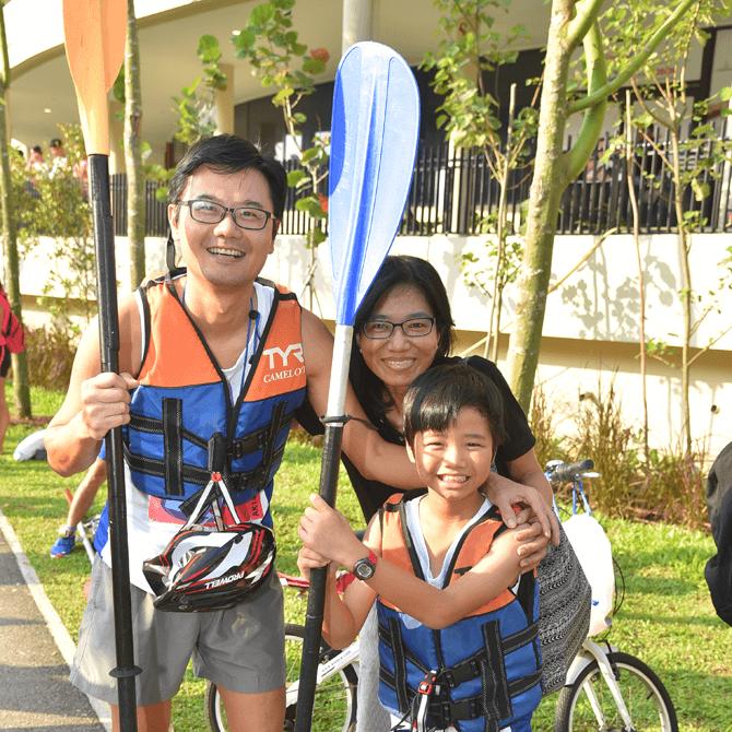 Safra Punggol Waterway Challenge family