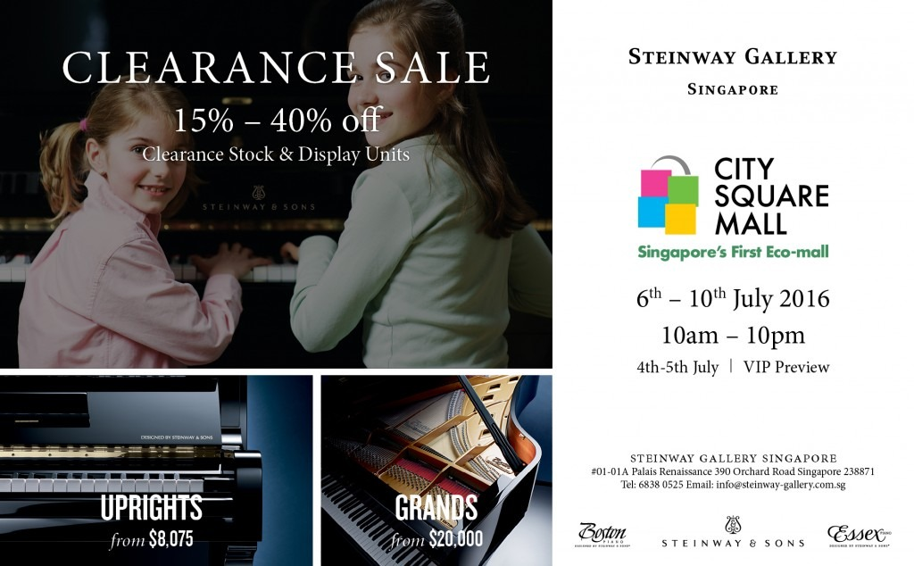 Steinway Gallery Clearance Sale