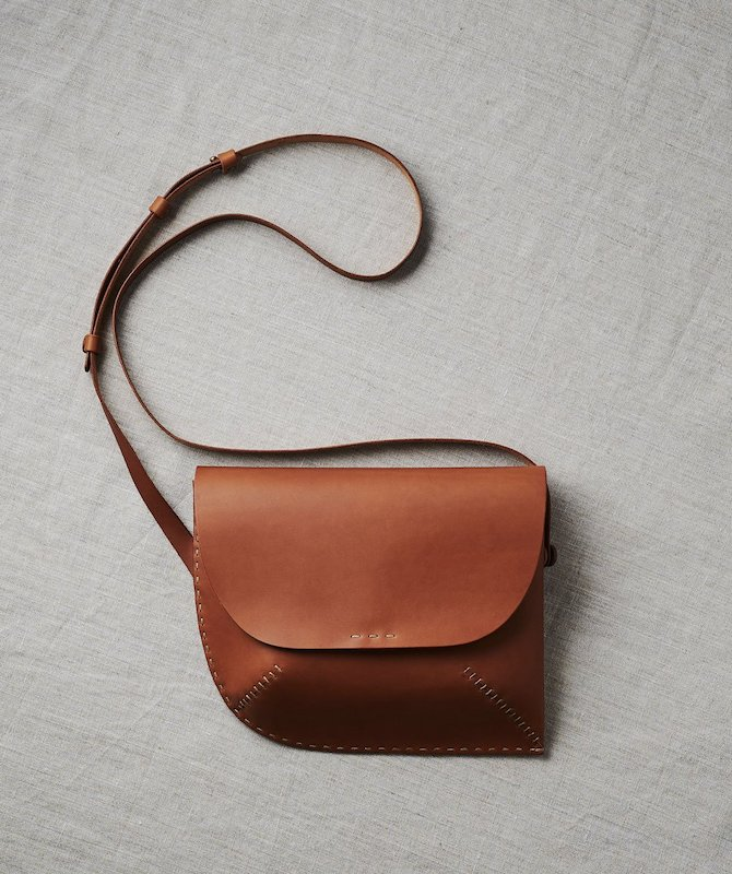 Senkoubou leather bag
