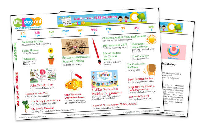 Little Day Out's September 2018 School Holiday Guide
