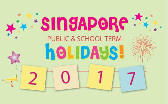 Singapore Public & School Holidays Calendar 2017