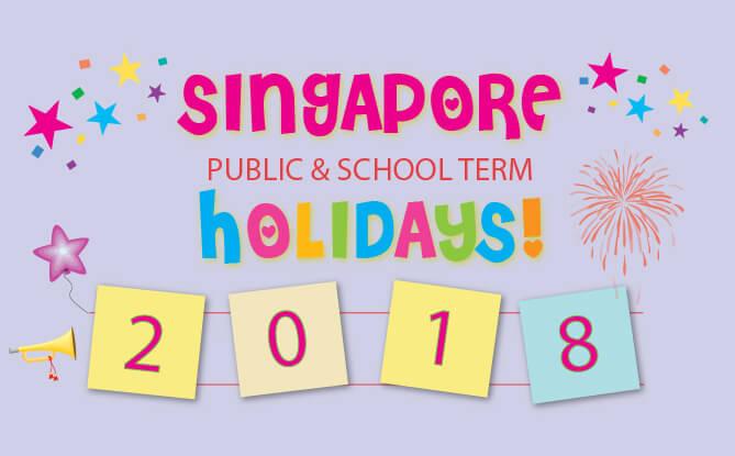 Singapore Public & School Holidays Calendar 2018