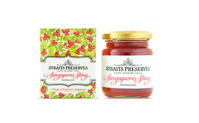Straits Preserves Singapore Sling Marmalade $15, from redmart.com and selected specialty and department stores