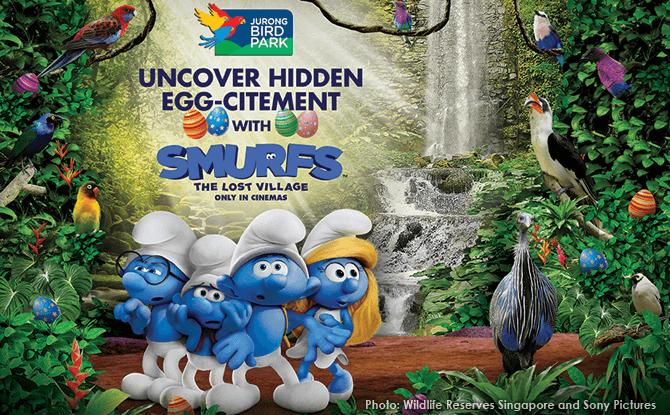 Smurfs' Lost Village in Jurong Bird Park