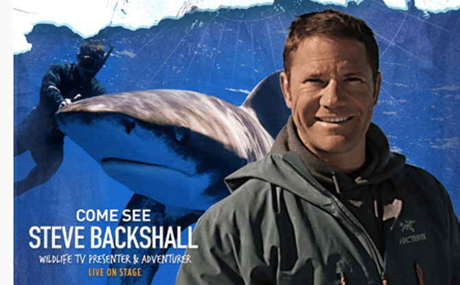 BBC Earth's Steve Backshall in Deadly 60 Live! Pole to Pole