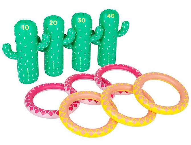 Sunnylife Cactus Inflatable Ring Toss Set