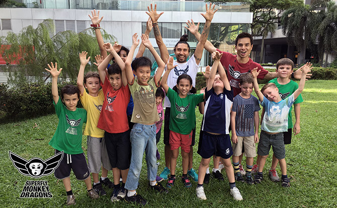 Superfly Monkey Dragons Parkour Camp Group 670 415