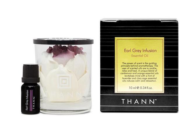 Thann Earl Grey Essential Oil 10ml with Flower Potpourri