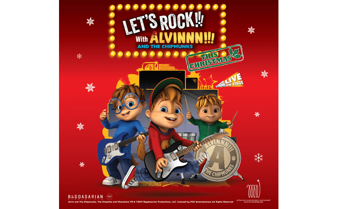 Let's rock with ALVINNN!!! and the Chipmunks this Christmas!