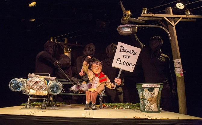 "Photo: ""The Pigeoning"" by Robin Frohardt; presented by HERE's Dream Music Puppetry Program; production photography: Sunday, December 1, 2013; 6:00 PM at Dorothy B. Williams Theatre; HERE Arts Center, NYC. Photograph: © 2013 Richard Termine PHOTO CREDIT – Richard Termine"