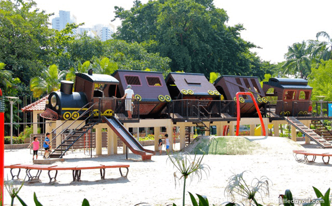 Tiong Bahru Park's Tilting Train Playground